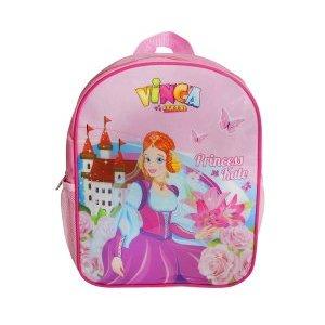 Рюкзачок детский принцесса, 270*210*65ммВелорюкзаки<br>Рюкзачок детский принцесса, 270*210*65мм<br>Рюкзачки отличаются ярким неповторимым дизайном, качественными безопасными материалами, практичностью.<br>На прогулку, в парк, детский сад, - детский рюкзак для мальчика станет незаменимым аксессуаром.<br>Он легкий, яркий, стильный, практичный, не требует особого ухода и обладает достаточным объемом, чтобы вместить все ценные вещи ребенка.<br>Материал: 420 D полиэ?стер<br>Цвет: розовый<br>Рюкзак крепится на руль двумя ремешками на липучках, плечевые лямки легко отстёгиваются и прячутся в карман.<br>Характеристики<br>Наличие внешних кармановДве боковые сетки<br>Один внутренний карман<br>Размеры: 270*210*65мм<br>