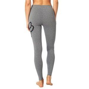 Леггинсы велосипедные женские Fox Enduration Legging Heather, серый 2018Велоштаны<br>Стильные и удобные леггинсы от Fox на все случаи жизни. Модель выполнена из мягкой эластичной ткани и декорирована принтом в виде логотипа бренда.<br><br><br><br>ОСОБЕННОСТИ<br><br><br><br>Материал: полиэстер/спандекс<br><br>Принт в виде логотипа бренда<br>