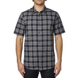 Велорубашка Fox Krill SS Woven, черный 2016Велофутболка<br>Клетчатая рубашка с коротким рукавом от Fox. Модель выполнена из плотной хлопковой ткани и декорирована аппликацией в виде логотипа бренда.<br><br><br><br>ОСОБЕННОСТИ<br><br><br><br>Материал: 55% - хлопок, 45% - полиэстер<br><br>Короткий рукав<br><br>Декор в виде логотипа бренда<br>