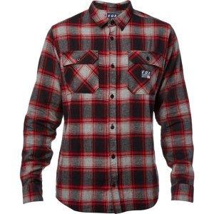 Велорубашка Fox Traildust Flannel Heather Graphite 2018Велофутболка<br>Классическая фланелевая рубашка от Fox. Модель выполнена из плотной хлопковой ткани, а основные её особенности – два нагрудных кармана и нашивка с логотипом бренда.<br><br><br><br>ОСОБЕННОСТИ<br><br><br><br>Материал: 100% - хлопок<br><br>Два нагрудных кармана<br><br>Нашивка с логотипом бренда<br>