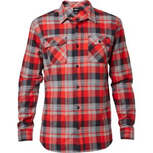 Велорубашка Fox Traildust LS Flannel, красный 2016 рубашка fox цвет красный