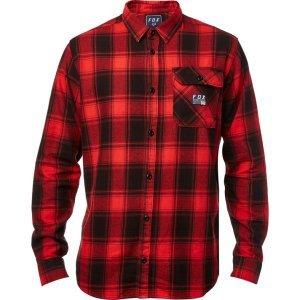 Велорубашка Fox Voyd Flannel, черно-красный 2018 рубашка fox цвет красный