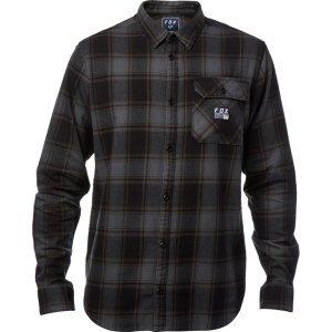 Велорубашка Fox Voyd Flannel, темно-зеленый 2018Велофутболка<br>Классическая фланелевая рубашка от Fox. Модель выполнена из плотной хлопковой ткани, а основные её особенности – нагрудный карман и нашивка с логотипом бренда.<br><br><br><br>ОСОБЕННОСТИ<br><br><br><br>Материал: 100% - хлопок<br><br>Нагрудный карман<br><br>Нашивка с логотипом бренда<br>