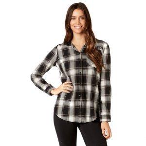 Велорубашка женская Fox Deny Flannel, черный 2018 платье рубашка fox yulia sway платье рубашка fox