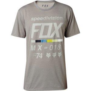 Велофутболка Fox Draftr SS Tech Tee Heather, темно-серый 2018Велофутболка<br>Оригинальная футболка от Fox, которая отлично подойдёт как для занятий спортом, так и для повседневного ношения. Модель свободного кроя, выполненная из мягкой синтетической ткани. Основная особенность этой футболки – фирменная технология TRUDRI от Fox, благодаря которой материал быстро сохнет и эффективно отводит влагу от тела.<br><br><br><br>ОСОБЕННОСТИ<br><br><br><br>Материал: 85% - полиэстер, 15% - хлопок<br><br>Свободный крой<br><br>Оригинальный принт<br><br>Технология TRUDRI<br>