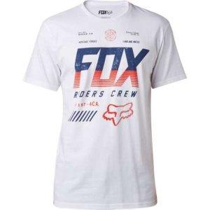 Велофутболка Fox Escaped SS Tee, белый 2016Велофутболка<br>Высококачественная футболка с коротким рукавом от Fox. Модель свободного кроя, выполненная из плотной хлопковой ткани и декорированная оригинальным принтом.<br><br><br><br>ОСОБЕННОСТИ<br><br><br><br>Материал: 60% - хлопок, 40% - полиэстер<br><br>С-образный вырез<br><br>Оригинальный принт<br>