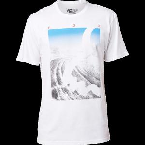 Велофутболка Fox Eyecon Photo SS Tee, белый 2017Велофутболка<br>Высококачественная футболка с коротким рукавом от Fox. Модель выполнена из плотной хлопковой ткани и декорирована оригинальным принтом.<br><br><br><br>ОСОБЕННОСТИ<br><br><br><br>Материал: 100% - хлопок<br><br>Оригинальный принт<br>