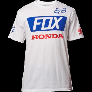 Велофутболка Fox Honda Basic Standard Tee, белый 2017 driven racing standard clip ons 55mm black dclo55bk