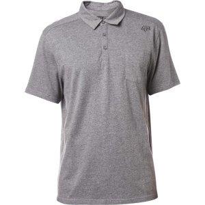 Велофутболка Fox Legacy Polo Shirt Heather Graphite 2018Велофутболка<br>Высококачественная футболка-поло от Fox. Модель выполнена из плотной хлопковой ткани и декорирована вышивкой в виде логотипа бренда.<br><br><br><br>ОСОБЕННОСТИ<br><br><br><br>Материал: 60% - хлопок, 40% - полиэстер<br><br>Вышивка в виде логотипа бренда<br>
