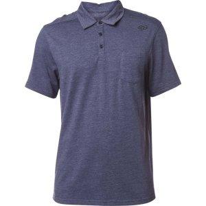 Велофутболка Fox Legacy Polo Shirt Heather, синий 2018Велофутболка<br>Высококачественная футболка-поло от Fox. Модель выполнена из плотной хлопковой ткани и декорирована вышивкой в виде логотипа бренда.<br><br><br><br>ОСОБЕННОСТИ<br><br><br><br>Материал: 60% - хлопок, 40% - полиэстер<br><br>Вышивка в виде логотипа бренда<br>