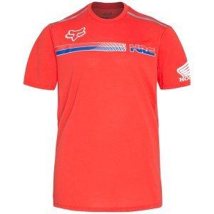 Велофутболка Fox Pit HRC Tech SS Tee, красный 2018Велофутболка<br>Оригинальная футболка от Fox, которая отлично подойдёт как для занятий спортом, так и для повседневного ношения. Модель свободного кроя, выполненная из мягкой синтетической ткани. Основная особенность этой футболки – фирменная технология TRUDRI от Fox, благодаря которой материал быстро сохнет и эффективно отводит влагу от тела.<br><br><br><br>ОСОБЕННОСТИ<br><br><br><br>Материал: 85% - полиэстер, 15% - хлопок<br><br>Свободный крой<br><br>Командная раскраска Honda/HRC<br><br>Технология TRUDRI<br>