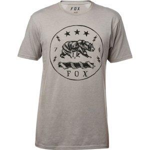 Велофутболка Fox Revealer SS Premium Tee, темно-серый 2018Велофутболка<br>Высококачественная футболка от Fox, которая отлично подойдёт как для занятий спортом, так и для повседневного ношения. Модель свободного кроя, выполненная из мягкой синтетической ткани. Основная особенность этой футболки – фирменная технология TRUDRI от Fox, благодаря которой материал быстро сохнет и эффективно отводит влагу от тела.<br><br><br><br>ОСОБЕННОСТИ<br><br><br><br>Материал: 65% - хлопок, 35% - полиэстер<br><br>Свободный крой<br><br>Оригинальный принт<br><br>Технология TRUDRI<br>