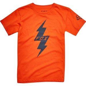 Велофутболка детская Fox Kids Pre Mortum SS Tee, оранжевый 2018Велофутболка<br>Высококачественная детская футболка от Fox. Модель свободного кроя, выполненная из гладкой плотной ткани и декорированная оригинальным принтом.<br><br><br><br>ОСОБЕННОСТИ<br><br><br><br>Материал: 50% - хлопок, 50% - полиэстер<br><br>С-образный вырез<br><br>Оригинальный принт<br>