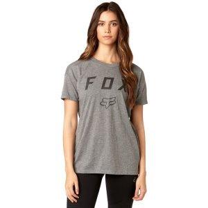 Велофутболка женская Fox District SS Crew, серый 2018Велофутболка<br>Оригинальная женская футболка от Fox. Модель выполнена из плотной хлопковой ткани и декорирована оригинальным принтом.<br><br><br><br>ОСОБЕННОСТИ<br><br><br><br>Материал: 60% - хлопок, 40% - полиэстер<br><br>С-образный вырез<br><br>Оригинальный принт<br>