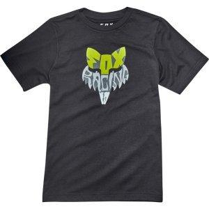 Велофутболка подростковая Fox Youth Lyruh SS Tee, черный 2018Велофутболка<br>Высококачественная подростковая футболка от Fox. Модель свободного кроя, выполненная из гладкой плотной ткани и декорированная оригинальным принтом.<br><br><br><br>ОСОБЕННОСТИ<br><br><br><br>Материал: 50% - хлопок, 50% - полиэстер<br><br>С-образный вырез<br><br>Оригинальный принт<br>