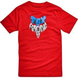 Велофутболка подростковая Fox Youth Lyruh SS Tee, темно-красный 2018Велофутболка<br>Высококачественная подростковая футболка от Fox. Модель свободного кроя, выполненная из гладкой плотной ткани и декорированная оригинальным принтом.<br><br><br><br>ОСОБЕННОСТИ<br><br><br><br>Материал: 50% - хлопок, 50% - полиэстер<br><br>С-образный вырез<br><br>Оригинальный принт<br>