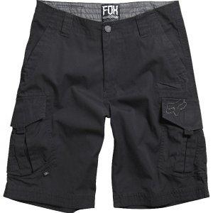 Шорты Fox Slambozo Cargo Solid Short, черный 2016Велошорты<br>Классические шорты с боковыми карманами от Fox. Модель выполнена из плотной хлопковой ткани.<br><br><br><br>ОСОБЕННОСТИ<br><br><br><br>Состав: 100% - хлопок<br><br>Традиционная застёжка на молнии и пуговица с логотипом бренда<br><br>Петли для ремня<br>
