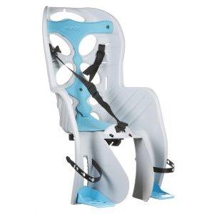 Детское велокресло 'NFUN, на багажник CURIOSO, белое с голубой вставкой, до 7лет/22кг, 01-100047 детское велокресло на багажник с поручнем и подголовником до 22кг 310 670 310мм синее 6 639882