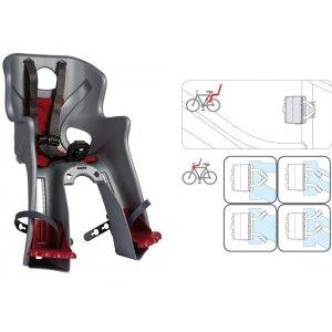 Сиденье детское переднее универсальное на раму/вынос RABBIT B-FIX BELLELLI, до 15 кг, 0-280257Детское велокресло<br>Сиденье детское переднее универсальное на раму/вынос <br>RABBIT B-FIX <br>BELLELLI<br>, серебристое, 2в1 - крепится к раме (верхняя или нижняя труба) или выносу, до 15кг, до 4 лет, регулируемая высота подножек, с трехточечными регулируемыми страховочными ремнями, быстросъемное T?V (Италия)<br>
