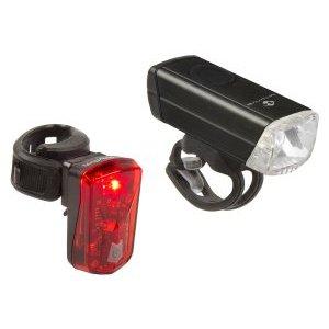 Фара передняя + фонарь задний ATLAS 20 USB M-WAVE, 5-221092