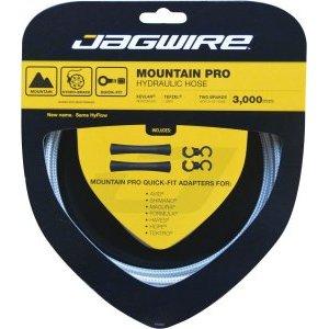 Набор гидролинии Jagwire Mountain Pro Hydraulic Hose Kit, белый, HBK402Тормоза на велосипед<br>Универсальная гидролиния Jagwire Mountain Pro HBK402 в кевларовой оплетке. Уникальная система Quick-Fit™ позволяет через систему адаптеров интегрировать данную гидролинию в любую тормозную систему. Внутренняя часть гидролинии произведена из запатентованного материала Tefzel ®.<br><br>Адаптер для соединения с тормозной системой в комплект не входит.<br><br>Комплектация:<br><br>гидролиния: 3000 мм х 5 мм (внешний диаметр);<br>универсальные фиитинги 2 шт.<br>