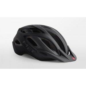 Велошлем Met Crossover, матовый черный 2018Велошлемы<br>Лёгкий универсальный шлем, который отлично подойдёт для использования в условиях города – этому способствует его низкий вес, оптимальная вентилируемость и встроенный светодиодный фонарь. Шлем можно использовать как с козырьком, так и без него.<br><br><br><br>ОСОБЕННОСТИ<br><br><br><br>Универсальная модель, оптимальная для использования в условиях города<br><br>Встроенный светодиодный фонарь<br><br>Сменные внутренние накладки из гипоаллергенного материала<br>