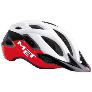 Велошлем Met Crossover, черно-красный 2018Велошлемы<br>Лёгкий универсальный шлем, который отлично подойдёт для использования в условиях города – этому способствует его низкий вес, оптимальная вентилируемость и встроенный светодиодный фонарь. Шлем можно использовать как с козырьком, так и без него.<br><br><br><br>ОСОБЕННОСТИ<br><br><br><br>Универсальная модель, оптимальная для использования в условиях города<br><br>Встроенный светодиодный фонарь<br><br>Сменные внутренние накладки из гипоаллергенного материала<br>