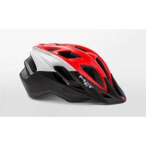 Велошлем Met Funandgo, бело-черно-красный 2018Велошлемы<br>Лёгкий универсальный шлем от Met, достаточно безопасный для серьёзных занятий спортом и достаточно удобный для того, чтобы вы забыли о нём во время езды. Его основные особенности – увеличенная затылочная часть, удобная регулируемая застёжка из лёгкого текстиля, впаянный в жёсткий корпус пенопластовый внутренник, обеспечивающий лучшую абсорбацию ударов, и съёмный козырёк, защищающий глаза от солнца и ветвей деревьев. <br><br>ОСОБЕННОСТИ<br><br><br><br>Максимально лёгкий и технологичный универсальный шлем<br><br>Монолитная конструкция – пенопластовый внутренник впаян в жёсткий корпус шлема<br><br>Съёмный козырёк<br><br>Отверстия для вентиляции закрыты москитной сеткой<br><br>Сменные внутренние накладки из гипоаллергенного материала<br><br>Светоотражающие наклейки<br>