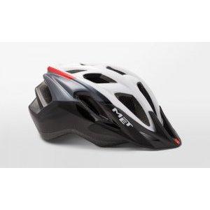 Велошлем Met Funandgo, черно-белый 2018Велошлемы<br>Лёгкий универсальный шлем от Met, достаточно безопасный для серьёзных занятий спортом и достаточно удобный для того, чтобы вы забыли о нём во время езды. Его основные особенности – увеличенная затылочная часть, удобная регулируемая застёжка из лёгкого текстиля, впаянный в жёсткий корпус пенопластовый внутренник, обеспечивающий лучшую абсорбацию ударов, и съёмный козырёк, защищающий глаза от солнца и ветвей деревьев. <br><br>ОСОБЕННОСТИ<br><br><br><br>Максимально лёгкий и технологичный универсальный шлем<br><br>Монолитная конструкция – пенопластовый внутренник впаян в жёсткий корпус шлема<br><br>Съёмный козырёк<br><br>Отверстия для вентиляции закрыты москитной сеткой<br><br>Сменные внутренние накладки из гипоаллергенного материала<br><br>Светоотражающие наклейки<br>