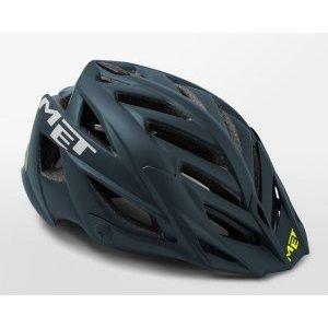 Велошлем Met Terra, Petrol Blue/Black 2018Велошлемы<br>Новый шлем от Met, разработанный специально для катания в стиле ол-маунтин. В плане дизайна Terra напоминает легендарный шлем Met Anaxagore с такими же острыми краями отверстий для вентиляции. В остальном, это гораздо более прочная модель, рассчитанная на катание по самым техничным и опасным трассам эндуро. Шлем выпускается в одном размере, который, однако, регулируется от 54 до 61см.<br><br><br><br>ОСОБЕННОСТИ<br><br><br><br>Лёгкий и очень надёжный шлем для эндуро и ол-маунтин<br><br>Монолитная конструкция – пенопластовый внутренник впаян в жёсткий корпус шлема<br><br>Съёмный козырёк<br><br>Сменные внутренние накладки из гипоаллергенного материала<br>