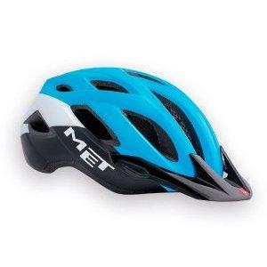 Велошлем Met Crossover, сине-черный, 3HM109M0CI1Велошлемы<br>Лёгкий универсальный шлем, который отлично подойдёт для использования в условиях города – этому способствует его низкий вес, оптимальная вентилируемость и встроенный светодиодный фонарь. Шлем можно использовать как с козырьком, так и без него.<br><br><br><br>ОСОБЕННОСТИ<br><br><br><br>Универсальная модель, оптимальная для использования в условиях города<br><br>Встроенный светодиодный фонарь<br><br>Сменные внутренние накладки из гипоаллергенного материала<br><br>Вес: 290-350 граммов (в зависимости от размера)<br>