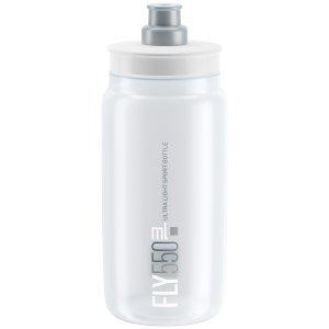 Фляга велосипедная Elite FLY, 550 мл, прозрачный, EL0160441Фляги и Флягодержатели<br>Жесткая, легкая бутылочка для питья марки Elite Model FLY.<br><br>особенности:<br><br>Плотный тип закрытия Corsa<br>Изготовлен из легкого и очень прочного материала полиэтилена<br>Биоразлагаемые<br><br>Емкость: 550 мл<br>
