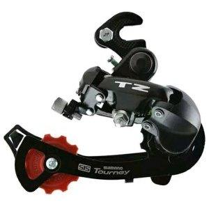 Переключатель задний Shimano Tourney TZ500 GS, крепление на ось, 6 скоростей, ARDTZ500GSB