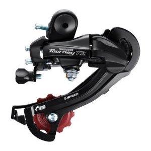 Переключатель задний Shimano Tourney TZ500 GS, 6 скоростей, на петух, ARDTZ500GSD переключатель задний shimano claris 2400 gs 8 скоростей