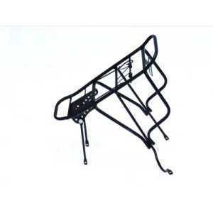 Багажник HORST H001, 26-28, сталь, сварной, на дисковый тормоз, черный, до 20 кг, 00-170335Бандана<br>26-28, стальной, не регулируемый, для велосипедов с дисковым тормозом, до 20кг, сварной, с прижимной пружиной, крепеж, черный<br>