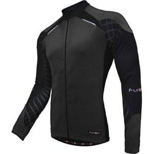 цены Велокуртка Funkier Ferinze LW Black J-730-1, с микрофлисом, весна-осень, черная молния