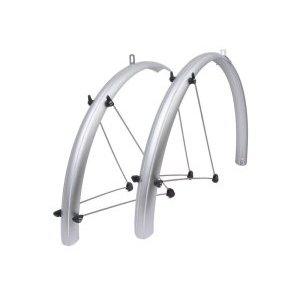 Крылья AUTHOR AXP-53, 28х53 мм, с усами, серебристые, металлопластик, 8-16100510 велосипеды