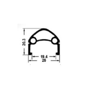 Обод 27,5 для дискового тормоза, 584х25/19,4х20,3мм, алюминий, 32 отверстия, двойной, 00-180915Обода<br>Обод 27,5  для дискового тормоза, 584х25/19,4х20,3мм, алюминий, 32 отверстия, двойной, для спортниппеля, пистонированный, черный<br>