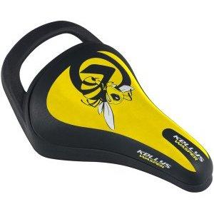 Седло KLS WASPER детское, 245x145мм, с ручкой, жёлтое