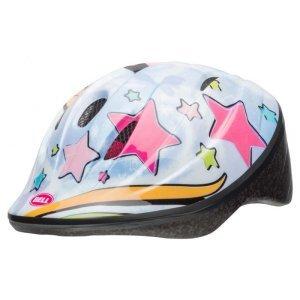 Шлем детский велосипедный Bell 18 BELLINO, бело/розовый единорог