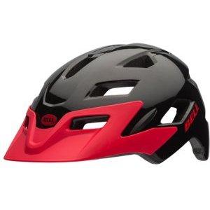 Шлем детский Bell 17 SIDETRACK, матовый черно-красный cool sports cycling helmet red white