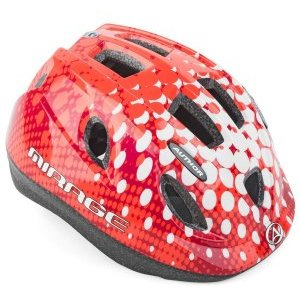 Велошлем детский AUTHOR с сеточкой Mirage 168 Red INMOLD, 12 отверстий, красный, 8-9089968