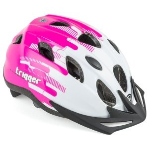 Велошлем подростковый с сеточкой Trigger Pnk INMOLD AUTHOR, бело-розовый велошлем author floppy детский подростковый 143 blu с сеточкой 16 отверстий 48 54см 8 9090054