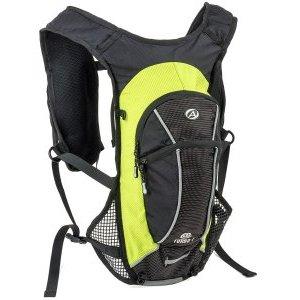 Рюкзак AUTHOR спортивный TURBO-6 VEST NEW V=6л 430г черно-зеленый + желтый чехол от дождя, 8-8100290