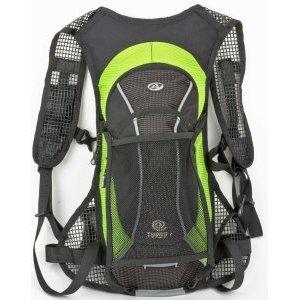 Рюкзак AUTHOR спортивный TURBO X7 NEW V=6л 430г черно-зеленый + желтый чехол от дождя, 8-8100272