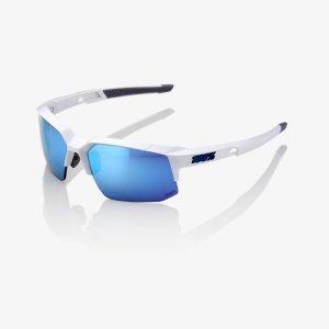 Велоочки 100% Speedcoupe Matte White / HiPER Blue Multilayer Mirror, 61031-000-75
