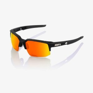 Велоочки 100% Speedcoupe Soft Tact Black / HIPER Red Multilayer Mirror, 61031-100-43