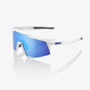 Велоочки 100% Speedcraft Matte White / HiPER Blue Multilayer Mirror, 61001-000-75
