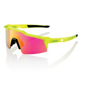 Велоочки 100% Speedcraft Polished Black/Fluorescent Yellow / Purple Multilayer, 61001-014-72
