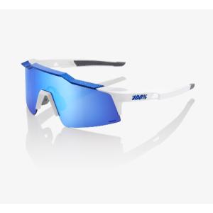 Велоочки 100% Speedcraft SL Matte White / Metallic Blue / HiPER Blue Multilayer, 61002-022-75